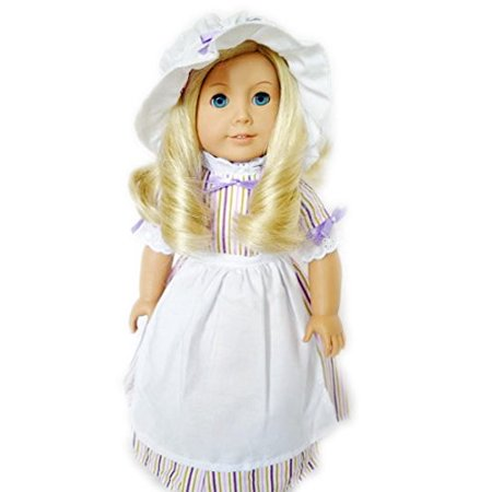 My Brittany's Purple Colonial Doll Gown For American Girl Dolls and My Life as Dolls- 18 Inch Doll Clothes - Colonist Clothes