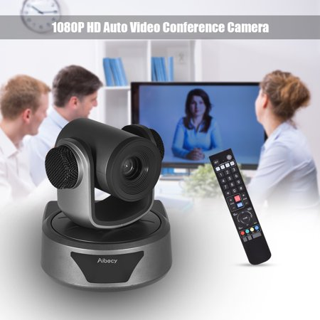 Aibecy HD Video Conference Cam Camera Full HD 1080P Auto Focus 20X Optical Zoom with 3.0 USB Cable Remote Control for Business Live Meeting Recording Training - image 1 de 7