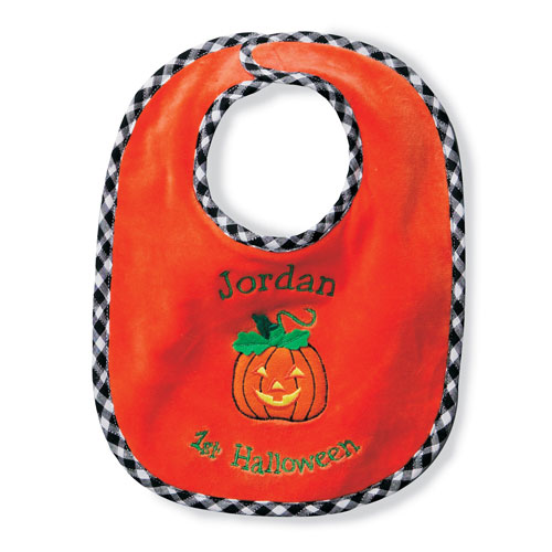 Personalized 'Baby's First Holiday' Bib, Halloween