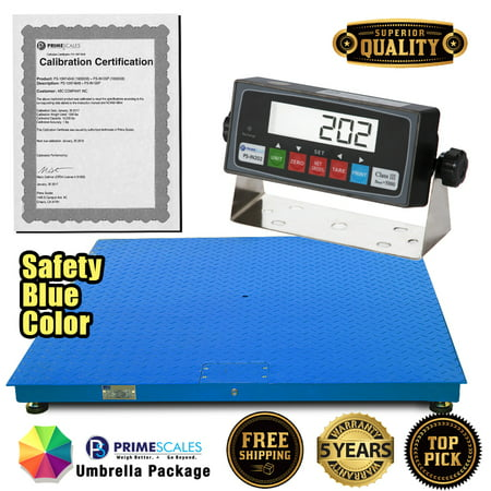 Prime Scales PS-10KF Series 10,000x1lb Floor Scale / Pallet Scale with Smart Scale Ready Indicator - 40x40 Feet