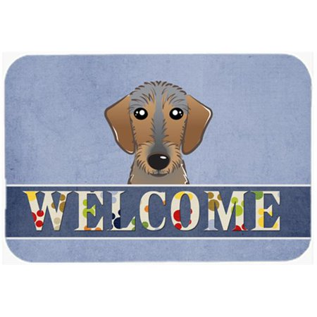 Carolines Treasures BB1419JCMT Wirehaired Dachshund Welcome Kitchen & Bath Mat, 24 x 36 in. - image 1 de 1