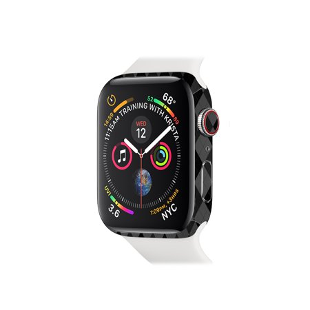 Series Argyle - Skin for Apple Watch Series 4 44mm - Black Argyle | Protective, Durable, and Unique Vinyl Decal wrap cover | Easy To Apply, Remove, and Change Styles