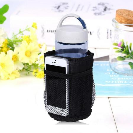 Yosoo 1pc Black Color Drink Water Bottle Universal Holder for Baby Stroller Insulation Cup Bag, Baby Bottle Case, Milk Bottle
