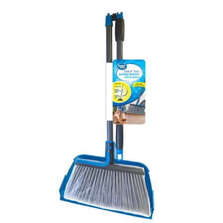 Great Value Click N' Twist Jumbo Broom with Dustpan