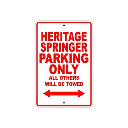 HARLEY DAVIDSON HERITAGE SPRINGER Parking Only All Others Will Be Towed Motorcycle Bike Novelty Garage Aluminum Sign 18