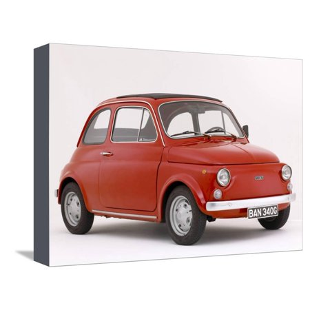 1968 Fiat 850 - 1968 Fiat 500 F Stretched Canvas Print Wall Art