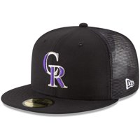 Colorado Rockies New Era On-Field Replica Mesh Back 59FIFTY Fitted Hat - Black