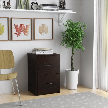 Ameriwood Home Canal 2-Drawer File Cabinet, Espresso Mdf Office File Cabinet
