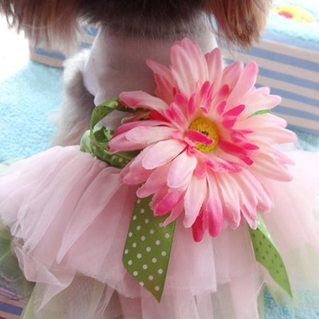 Dog Gauze Tutu Dress Skirt Pet Dog Cat Princess Clothes Bowknot Dres - Dog Tutu
