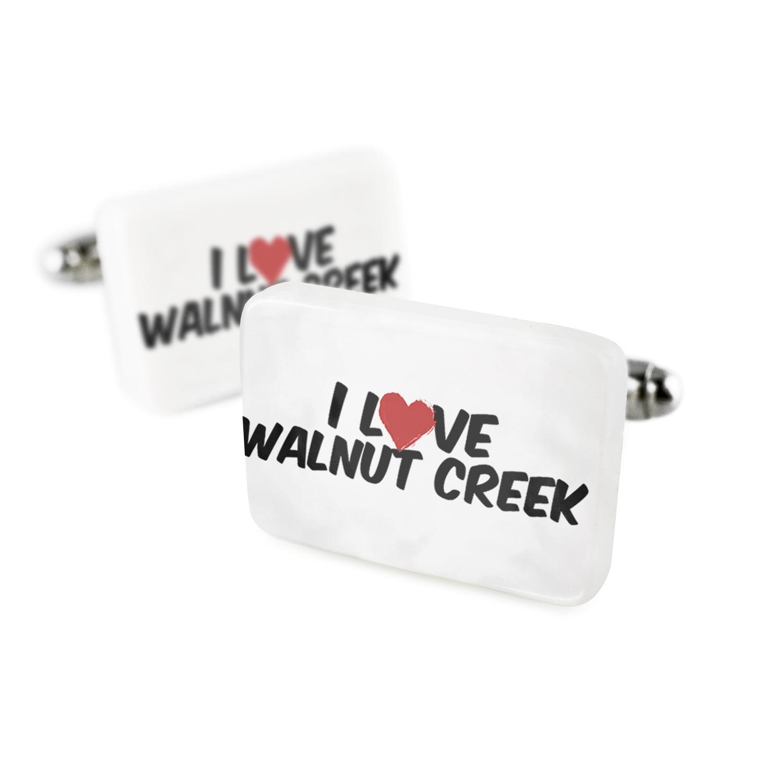 Cufflinks I Love Walnut CreekPorcelain Ceramic NEONBLOND