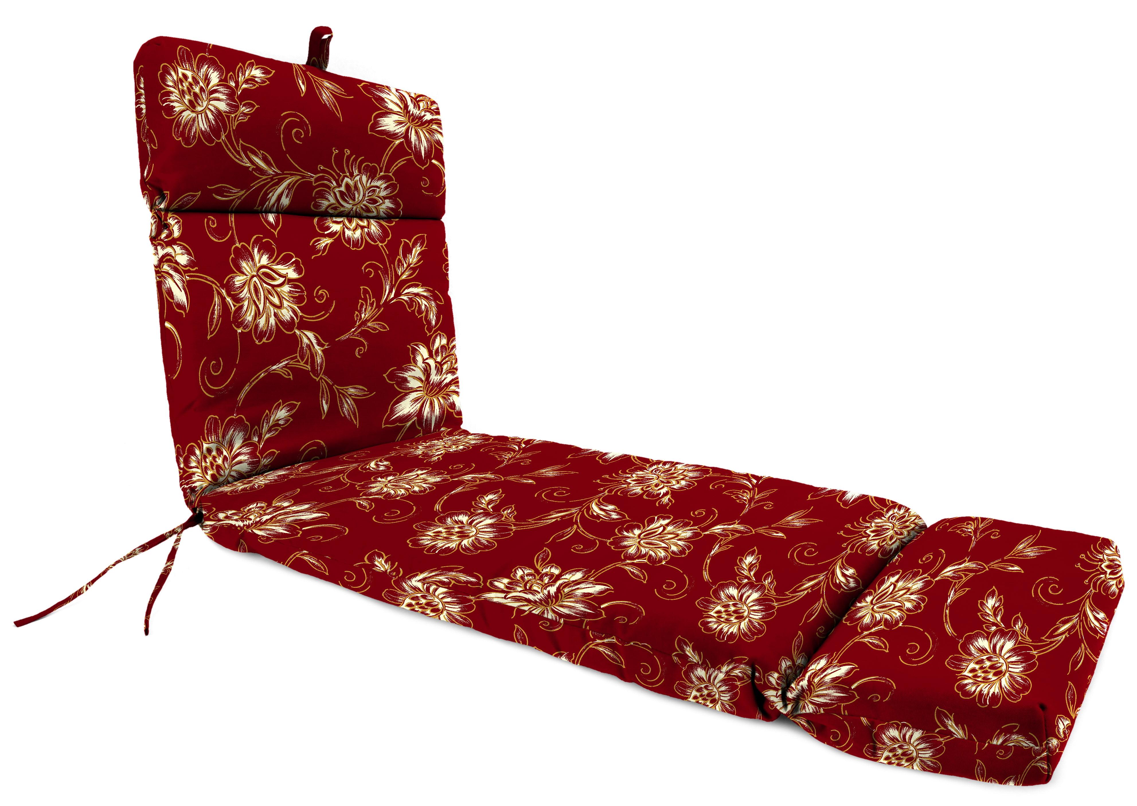 Marvelous Mainstays Aubrey Floral Outdoor Patio Chaise Lounge Cushion Creativecarmelina Interior Chair Design Creativecarmelinacom