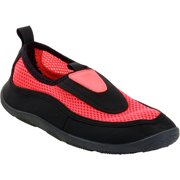 Women's Essential Aqua Beach Shoe Black/Coral M 7-8