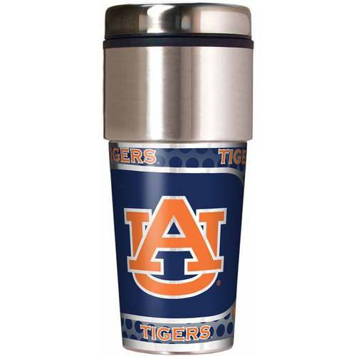 NCAA Auburn 16-Ounce Travel Tumbler with Metallic Wrap