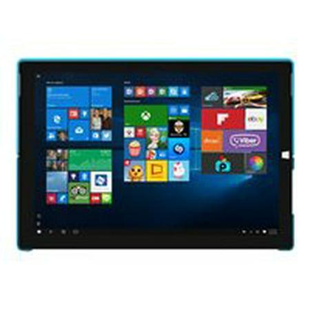 Incipio Feather Advance - Back cover for tablet - polycarbonate, Plextonium, vegan leather - blue - for Microsoft Surface Pro
