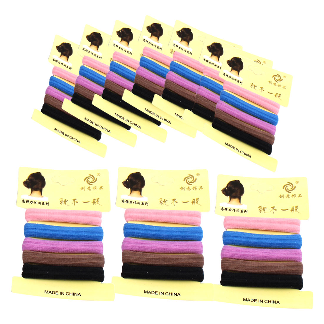 Elastic Fabric Hair Ties Bands Rope Ponytail Holders Scrunchies 50pcs