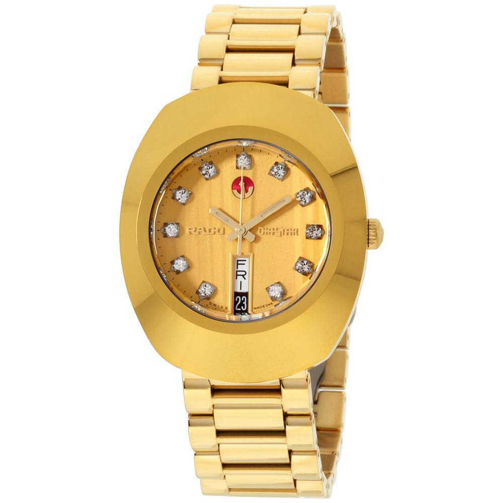 Rado R12413494 Original Diastar Jubile Mens Watch - Gold ...