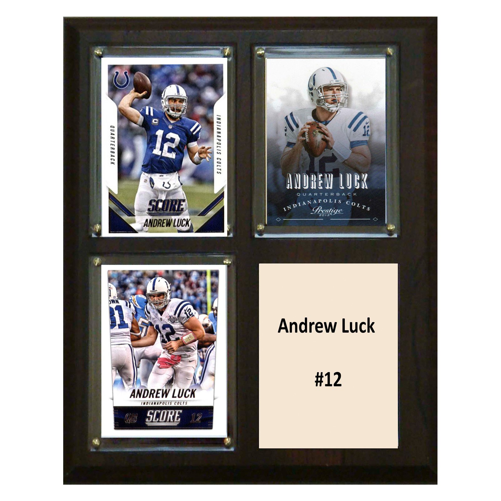 C&I Collectables NFL 8x10 Andrew Luck Indianapolis Colts 3-Card Plaque