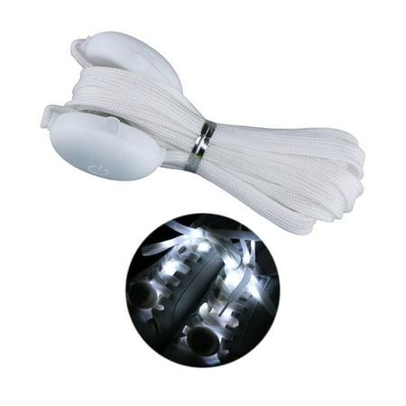 One Pair of Fashionable LED Luminous Shoelaces Nylon Strap Colorful Flashing Light Shoe Lace 1.2m Length