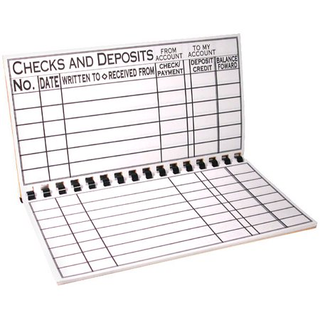 Account Register - The Giant Print Check Register