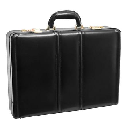 Daley Leather Attache Case - Black