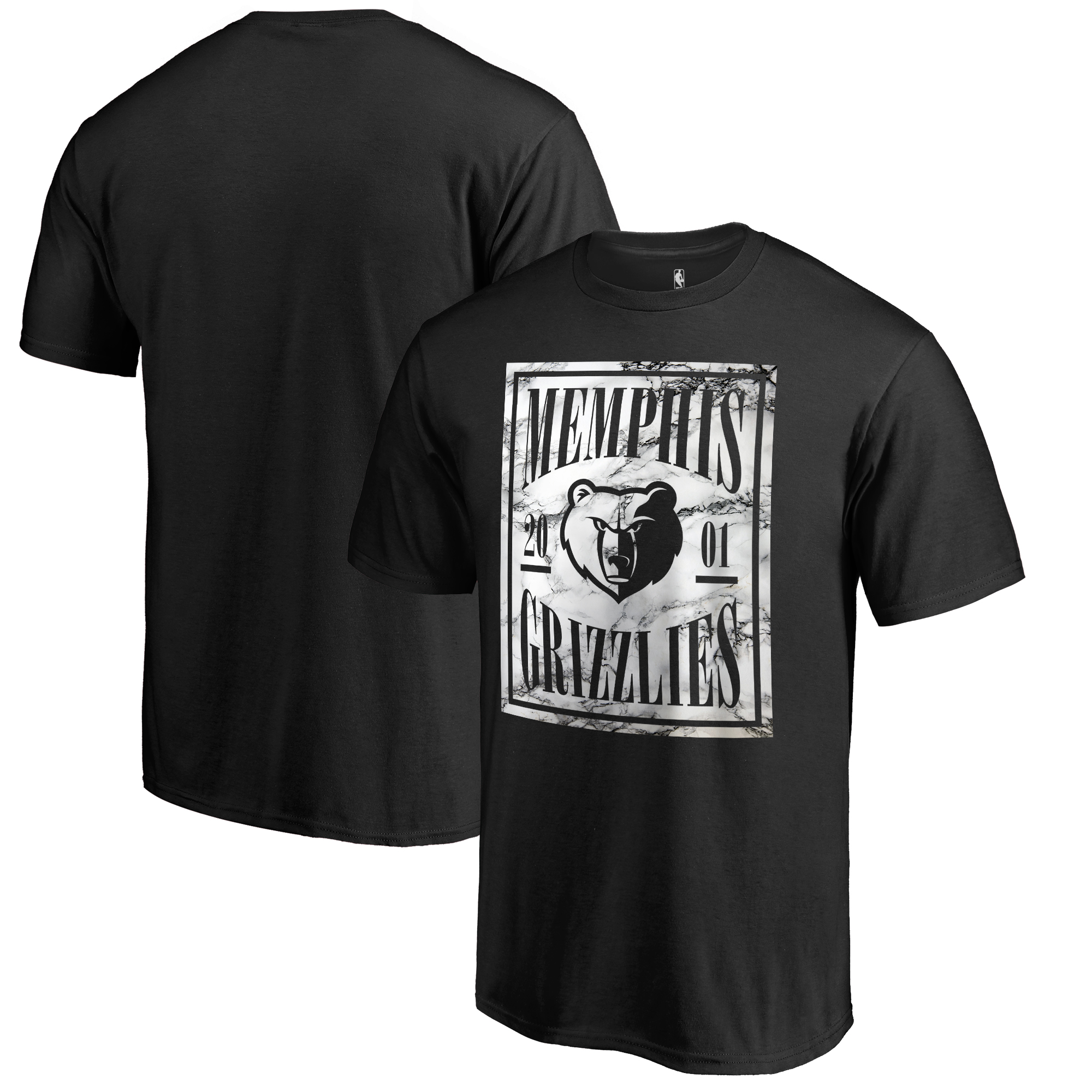 Memphis Grizzlies Fanatics Branded Court Vision Big & Tall T-Shirt - Black