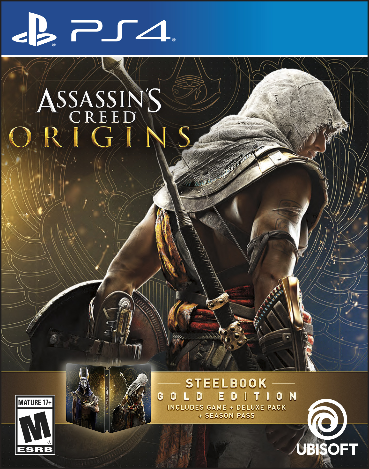 Assassin's Creed: Origins Steelbook Gold Edition, Ubisoft, PlayStation 4, 887256028527 by Ubisoft