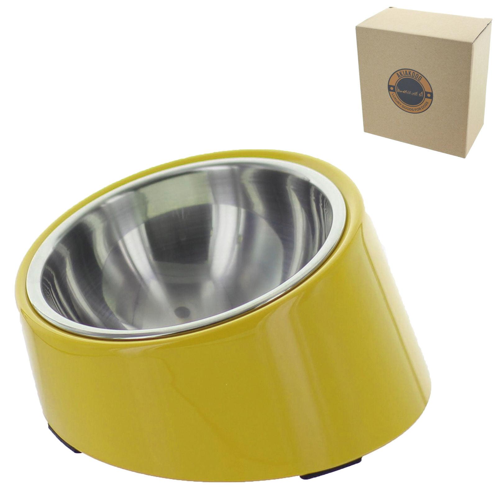 Slope Design Medium Akiakdog Slope Pet Bowl Prefect Bowl for Feeding Dogs and Cats