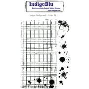 "Indigoblu Cling Mounted Stamp 5""x8"" -Ledger Background"