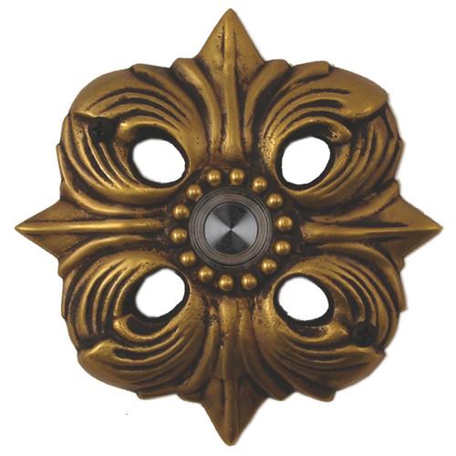 Waterwood Hardware Brass Avalon Doorbell