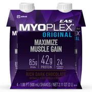 EAS Myoplex Original Ready-To-Drink Protein Shake, Rich Dark Chocolate, 16 fl oz, 4 Count