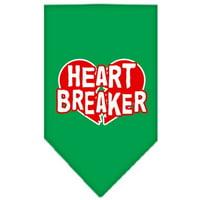 Heart Breaker Screen Print Bandana Emerald Green Large