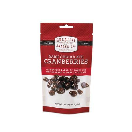 CREATIVE DARK CHOCOLATE CRANBERRIES, 3.5