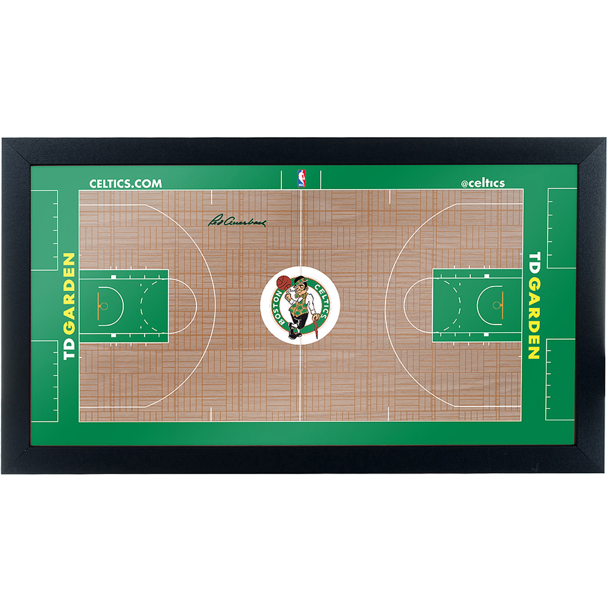 Boston Celtics Official NBA Court Framed Plaque