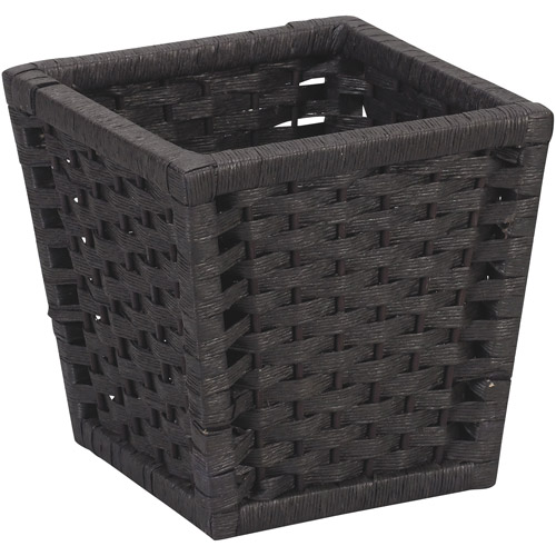 Household Essentials Paper Rope Waste Can, Black