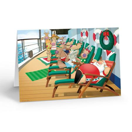 Cruise Ship Lounging Christmas Card - 5