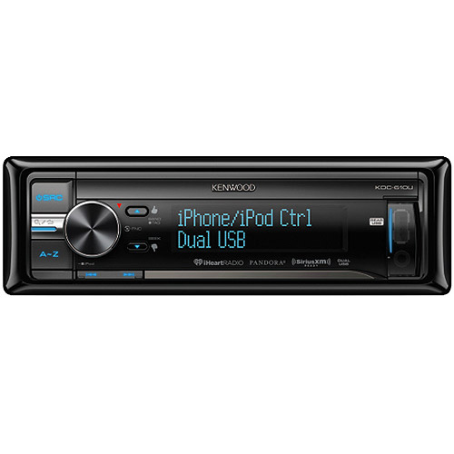 Kenwood KDC-610U CD Player with Dual USB/Multi-Color Display