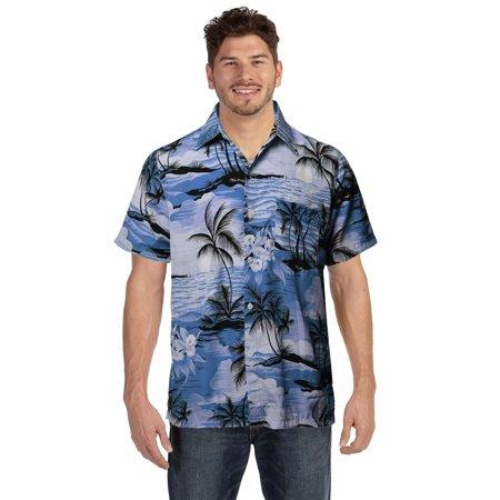 9 Crowns Men's Tropical Hawaiian Printed Short Sleeve -