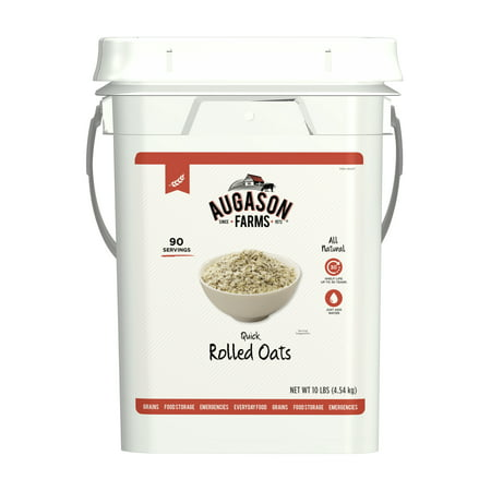 Farm Food (Augason Farms Quick Rolled Oats Emergency Food Storage 10 Pound Pail )