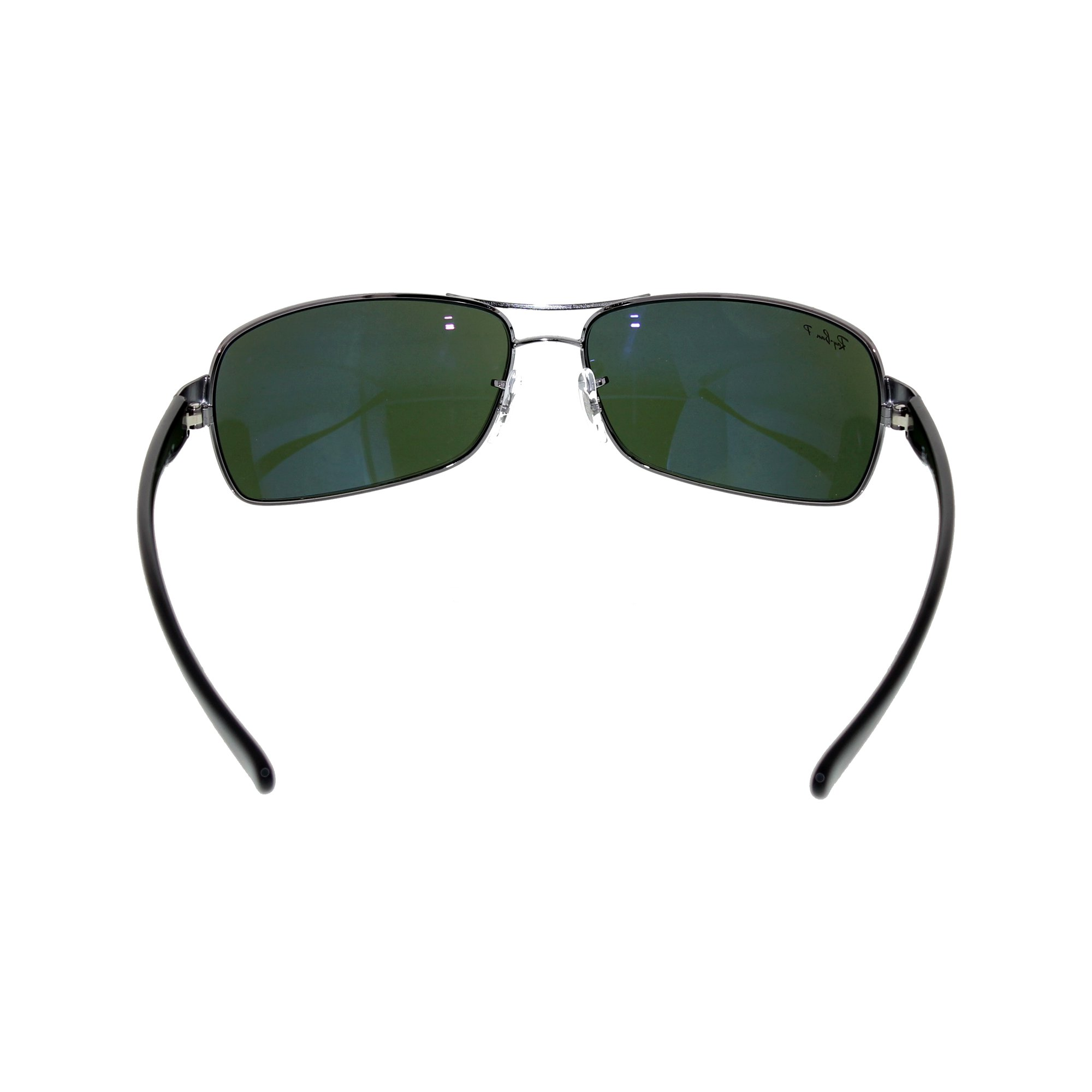 576b57ceff0 Ray-Ban Men s Polarized RB3379-004 58-64 Silver Rectangle Sunglasses ...