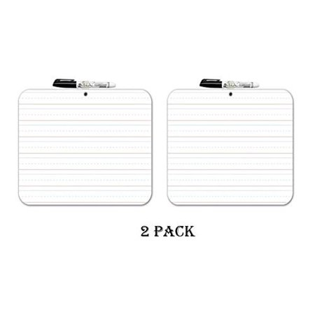 2 Pack Board Dudes Double Sided Dry Erase Lapboard, 9 X 12 Inches (11060-6) (2 Pack) (Chalkboard Lapboards)