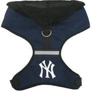 Pets First MLB New York Yankees Pet Harness with Hood, Small