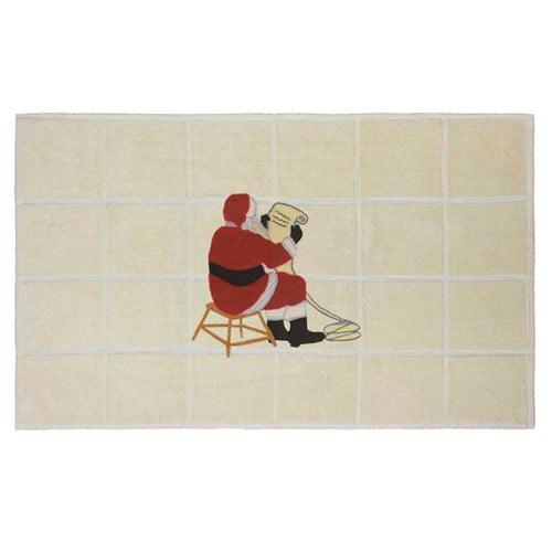 Patch Magic Ocean View Santa By The Fireside Bath Mat