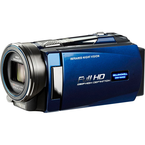 BELL+HOWELL Blue DNV16HDZ 1080p Full HD Night Vision Camcorder