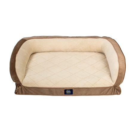 SertaPedic Orthopedic Quilted Couch Dog Bed, 36