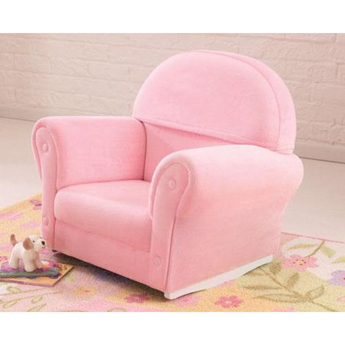 KidKraft Upholstered Pink Rocker with Slip Cover - 18611