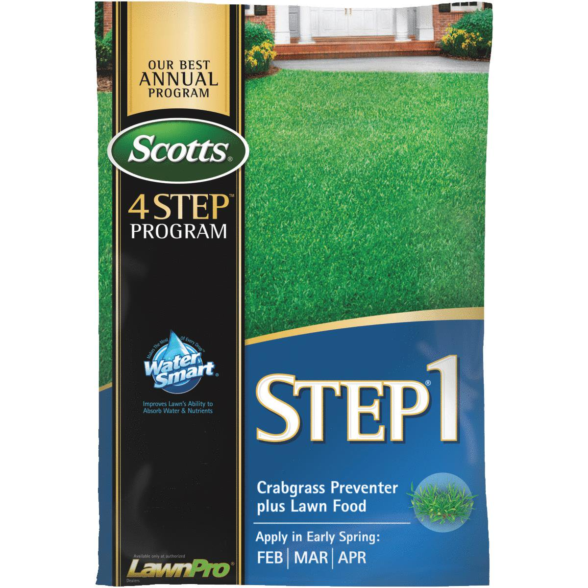 Scotts 4-Step Program Step 1 Lawn Fertilizer With Crabgra...