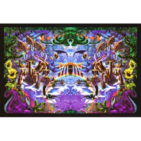 Octopus Garden Blacklight Poster By Richard Biffle - 36x24](Blacklight Room Decor)