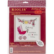 """It's A Girl! Birth Record Counted Cross Stitch Kit-8""""X8"""" 28 Count"""