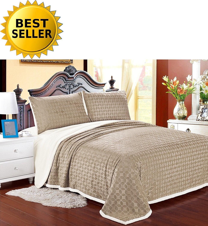 Elegant Comfort Luxury Sherpa Blanket on Amazon! Best Seller Micro-Sherpa Ultra Plush... by Elegant Comfort
