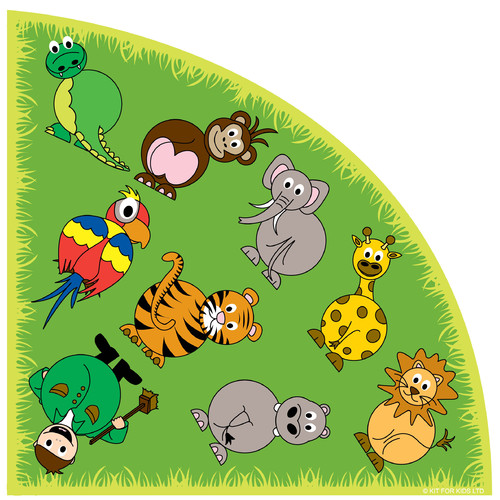 Kalokids Town and Country Zoo Animals Kids Rug